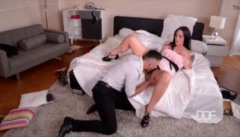 Femdom Starla Spanks And Dominates Her Lesbian Submissive